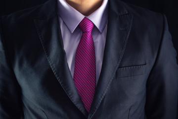 Closeup shot of business man on a suit