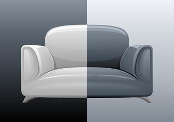Contrasting sofa