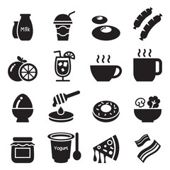 Breakfast icons set1