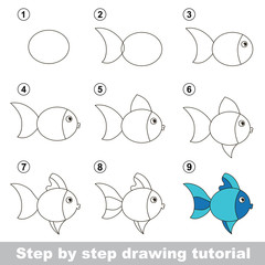 Drawing tutorial. How to draw a Cute Fish