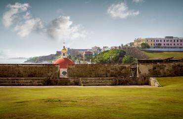 Wall Mural - Santa Maria Magdalena de Pazzis cemetery in old San Juan, Puerto