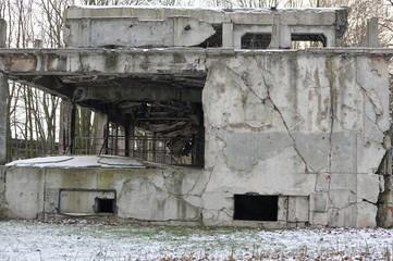 Westerplatte after Second World War scenario in Gdansk, Poland