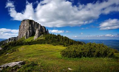 mountain landscape in Ceahlau,  Romania
