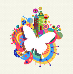 Butterfly icon concept spring color shape