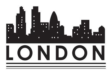 London abstract skyline symbol, vector illustration