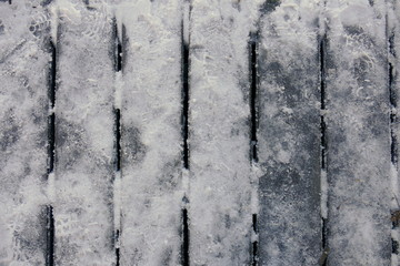 verschneiter Steg