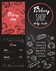 Bakery corporate identity. Bakery shop.