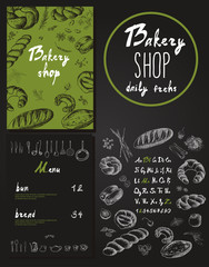 Bakery corporate identity. Bakery shop.