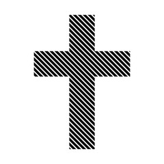 Religious cross sign.
