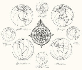 Maps atlas continents.