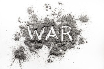 Word war written in ash