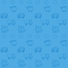 Seamless wallpaper with toy cars