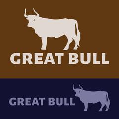 Vector logo of a bull. Brand logo