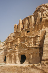 Obelisk tomb in the ruins of the ancient Nabatean city of Petra,