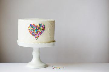 Wall Mural - Heart cake