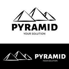 Vector pyramid logo. Brand logo in the shape of pyramids