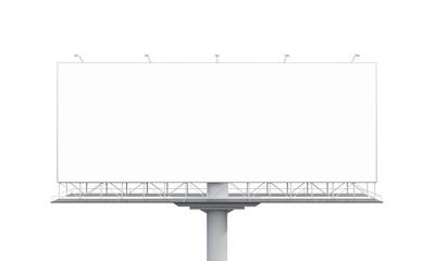 Billboard on white background