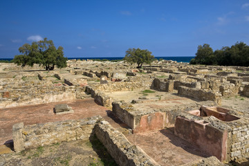 Tunisia. Ruins of Kerkouane - one of the most important Punic cities