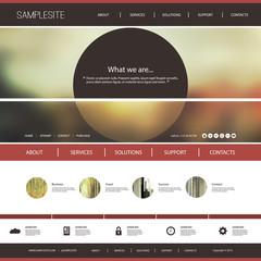 Website Template with Blurred Header Design Concept