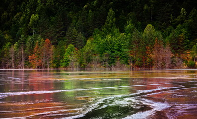 polluted lake in Romania
