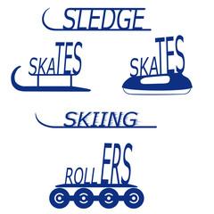 Logo Image skates, skis, sledges, rollers