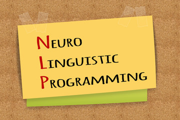 NLP Neuro Linguistic Programming on sticky note