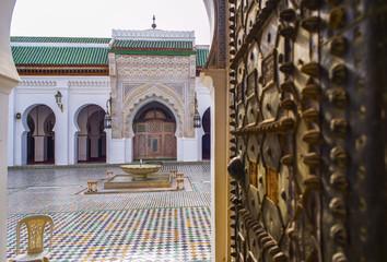 University al-Qarawiyyin. Fez El Bali Medina. Fez, Morocco.