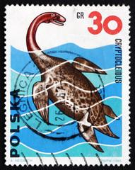 Postage stamp Poland 1965 Cryptocleidus, Dinosaur