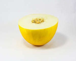 Canary melon sweet yellow fruit
