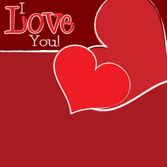 Bright hand drawn Valentine's Day card in vector format.