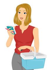 Girl Grocery List Check