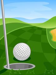 Golf Ball Hole Course
