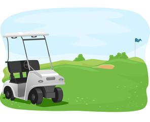 Golf Course Cart Park