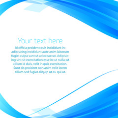 Abstract wavy vector background in blue