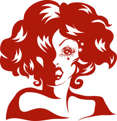 Drag Queen Stencil Red