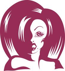 Drag Queen Stencil Wig