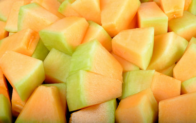 close up cantaloupe melon background texture
