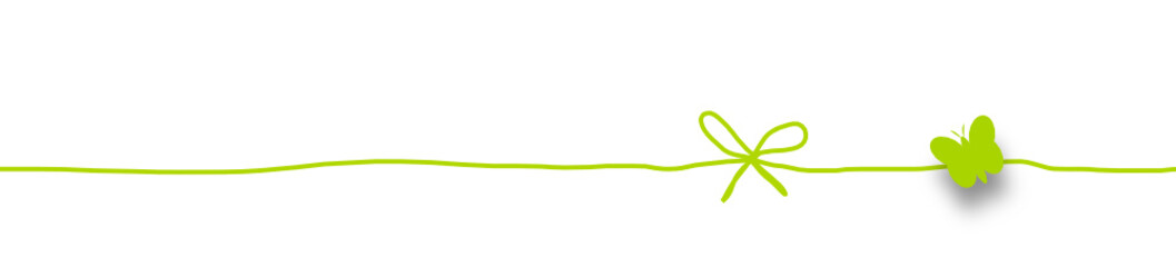 Schleife Band Banner Grün Schmetterling