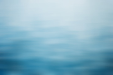 Canvas Print - Clear blue water, seascape ripple abstract in blurred background