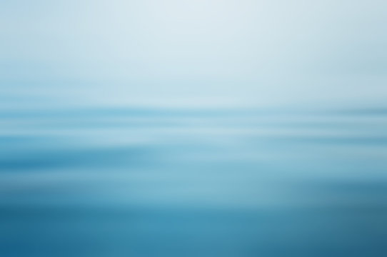 Abstract clear blue water in blurred background concept