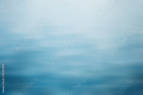 Wall mural Clear blue water, seascape ripple abstract in blurred background