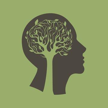 голова и дерево