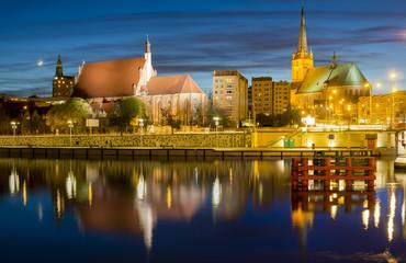 Obraz Szczecin nocą - fototapety do salonu
