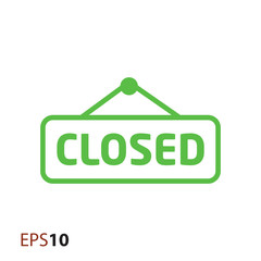 Closed door label icon for web and mobile