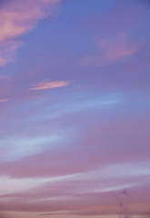 abstract background with defocused beautiful colorful flame clouds in the sky