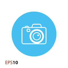 Digital camera icon for web and mobile