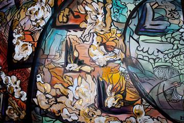 Абстракция, фон, Красивая , сочная работа, акриловыми красками.