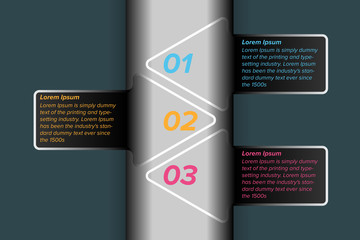 Abstract arrow info-graphics element