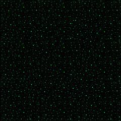 A galaxy of green stars in a black night sky