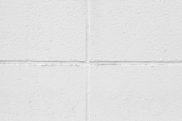 White concrete block wall texture and background seamless